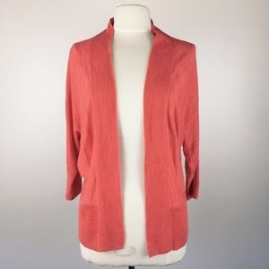 The Limited Dolman Open Front Cardigan Coral S